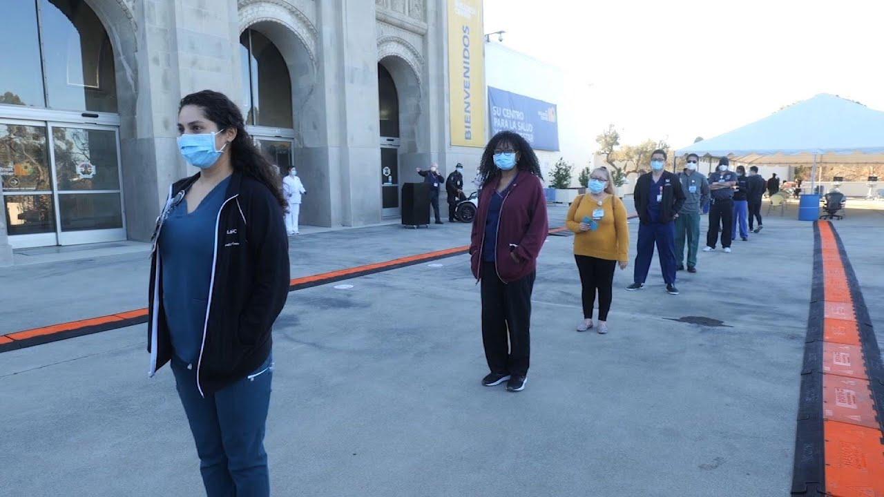 Los Angeles County Hospitals begin vaccinations