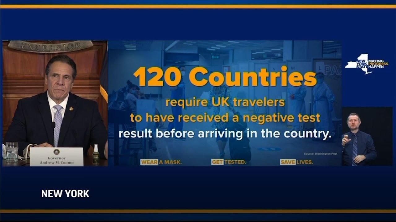 Cuomo seeks to test passengers flying from U.K.