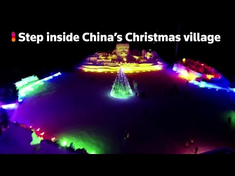 Step inside China's Christmas village