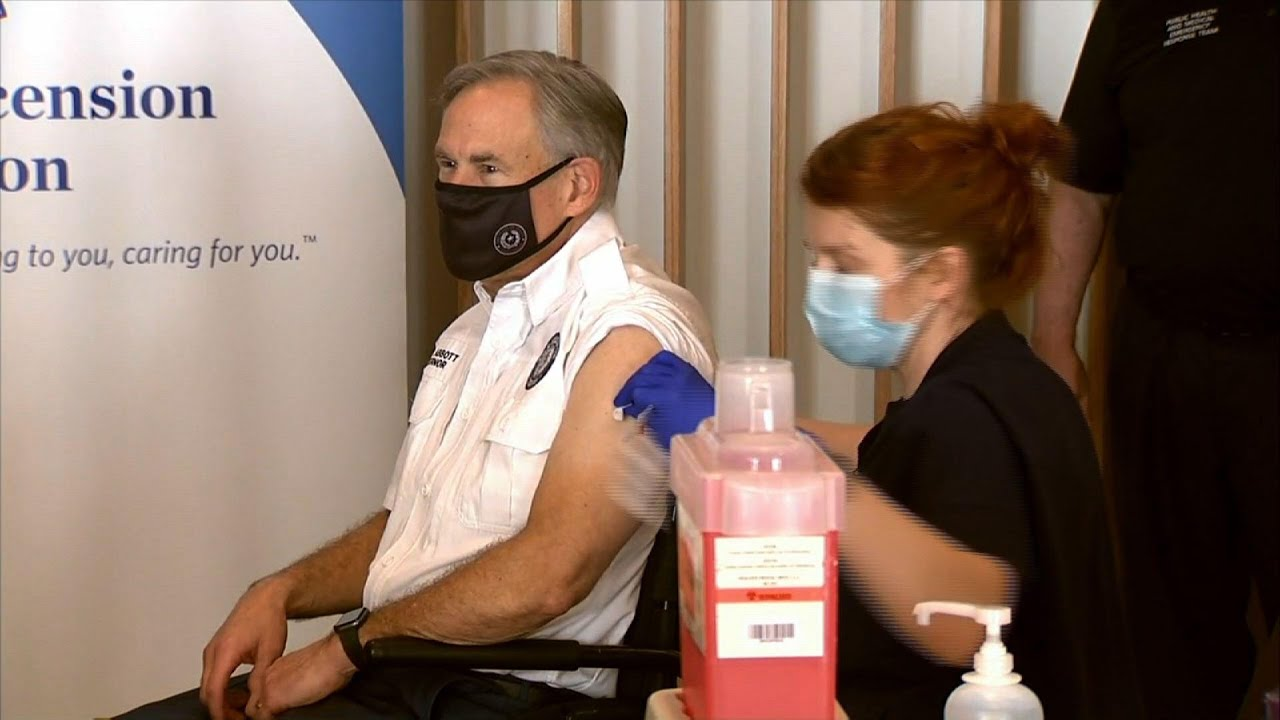 Texas Gov. Abbott receives coronavirus vaccine