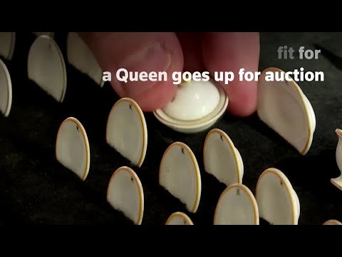 Miniature royal tableware goes up for auction
