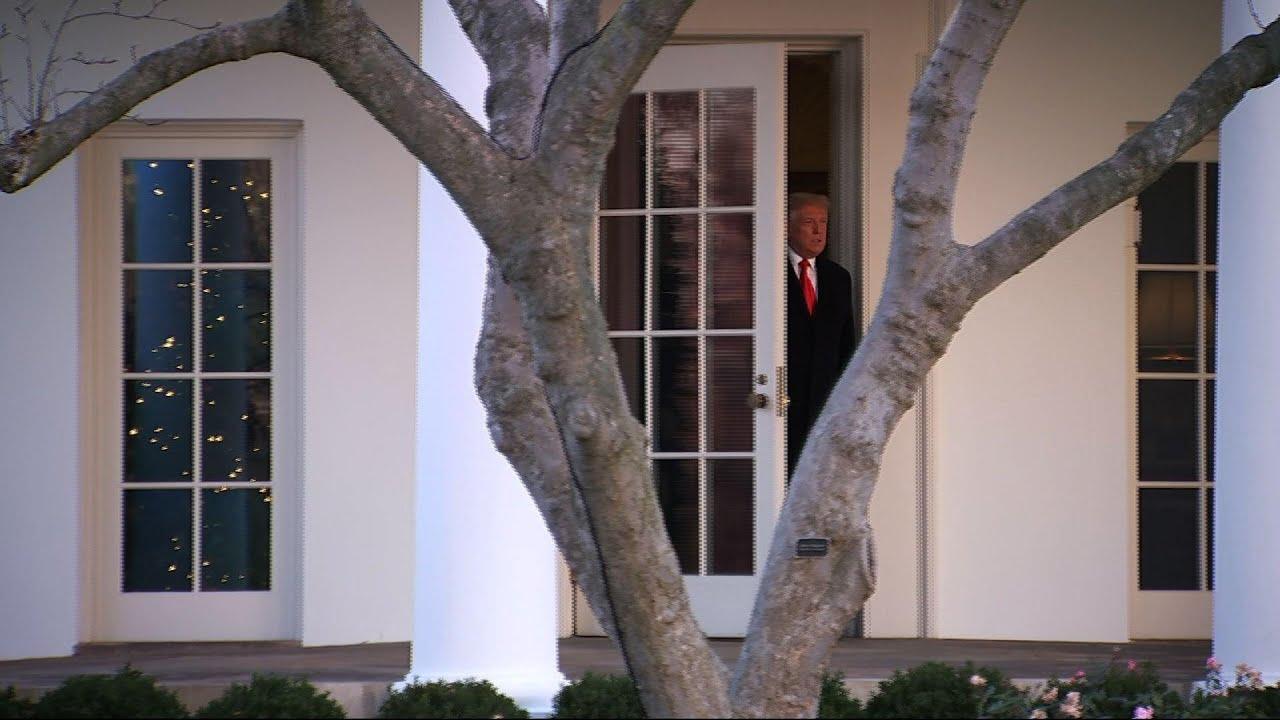 Trump departs WH after he vetoes defense bill