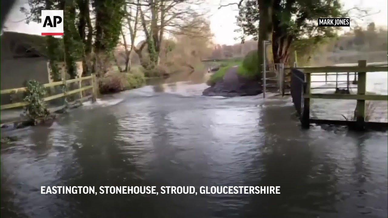 Fuertes lluvias inundan parte de Inglaterra