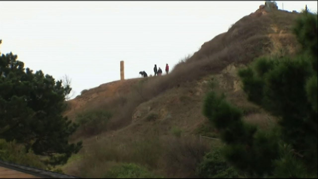 Gingerbread monolith appears on San Francisco hill