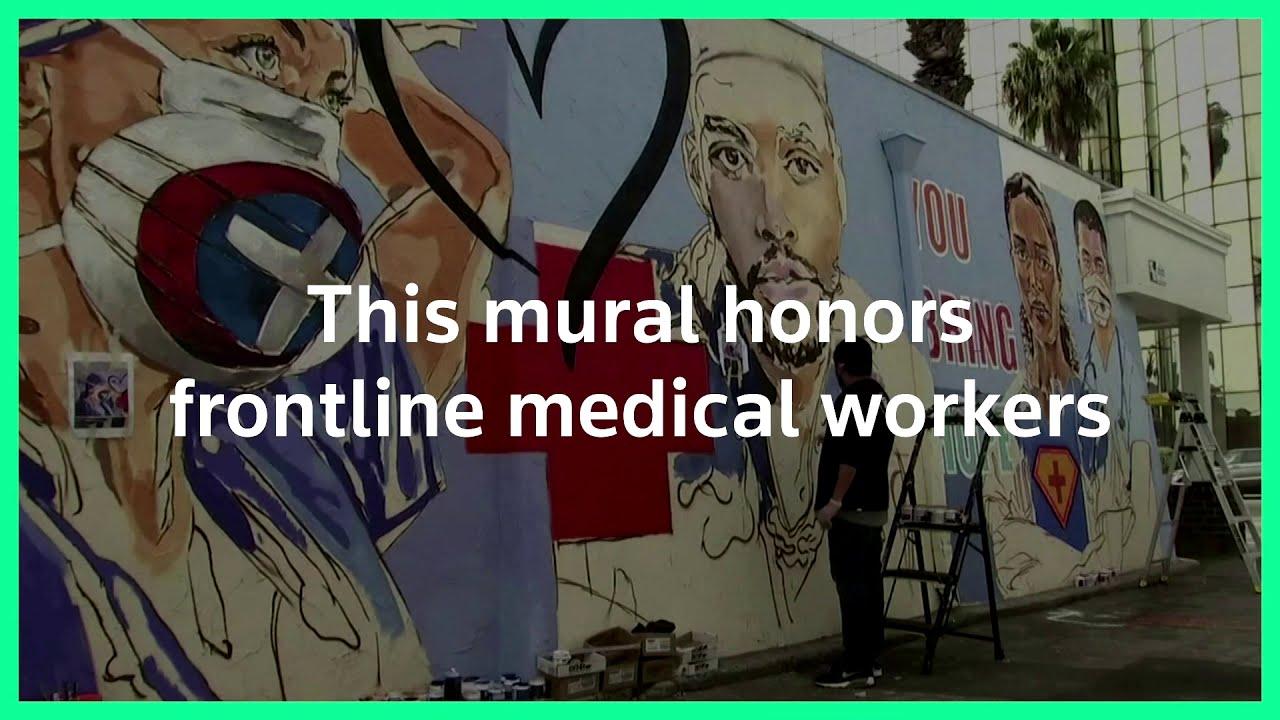 California mural honors frontline medical staff
