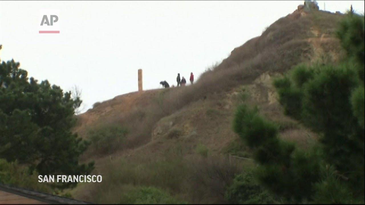 Monolito de pan de jengibre aparece en una colina de San Francisco