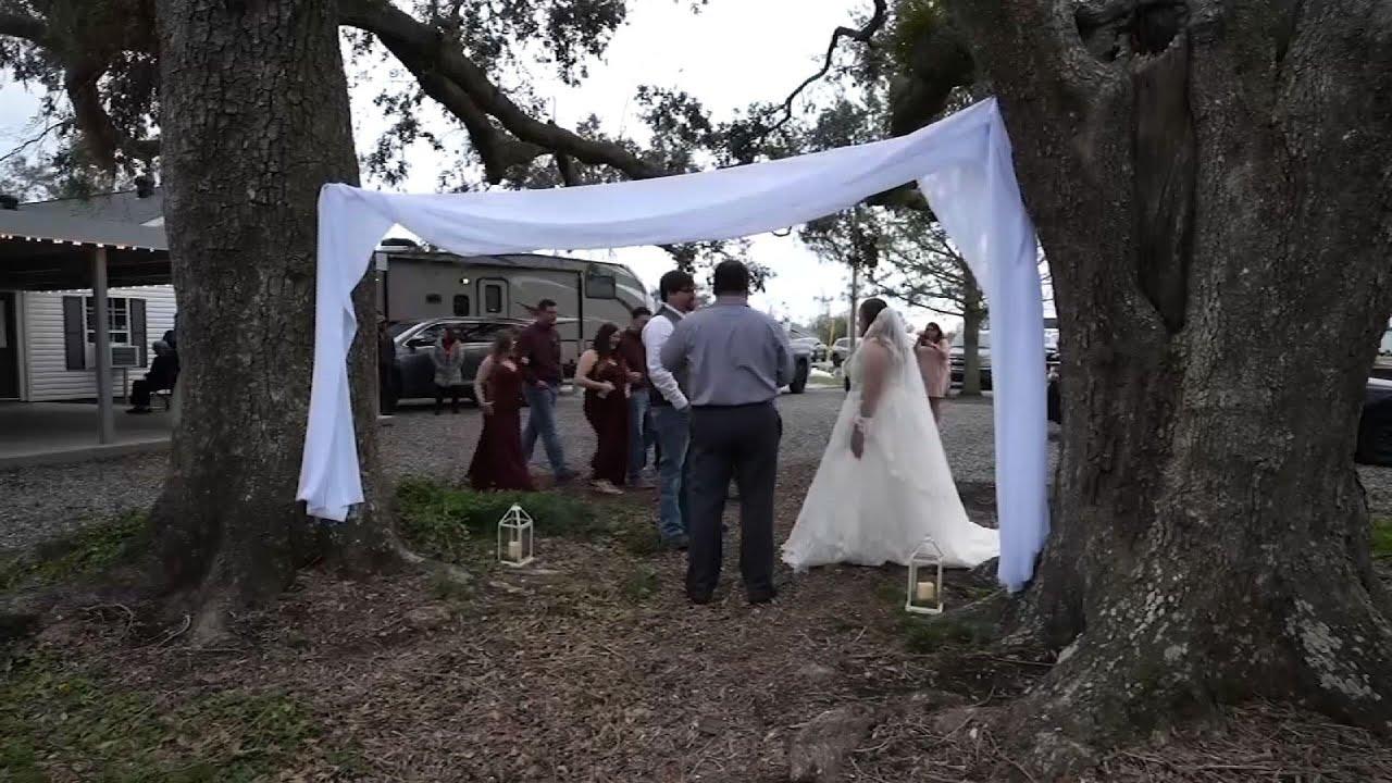 Hurricanes, virus can't stop couple's wedding