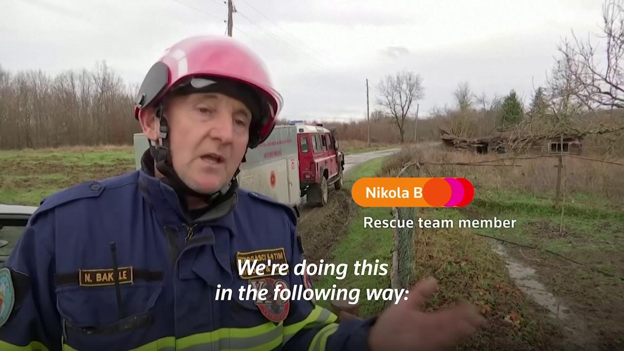 Rescue dog searches through Croatia quake rubble