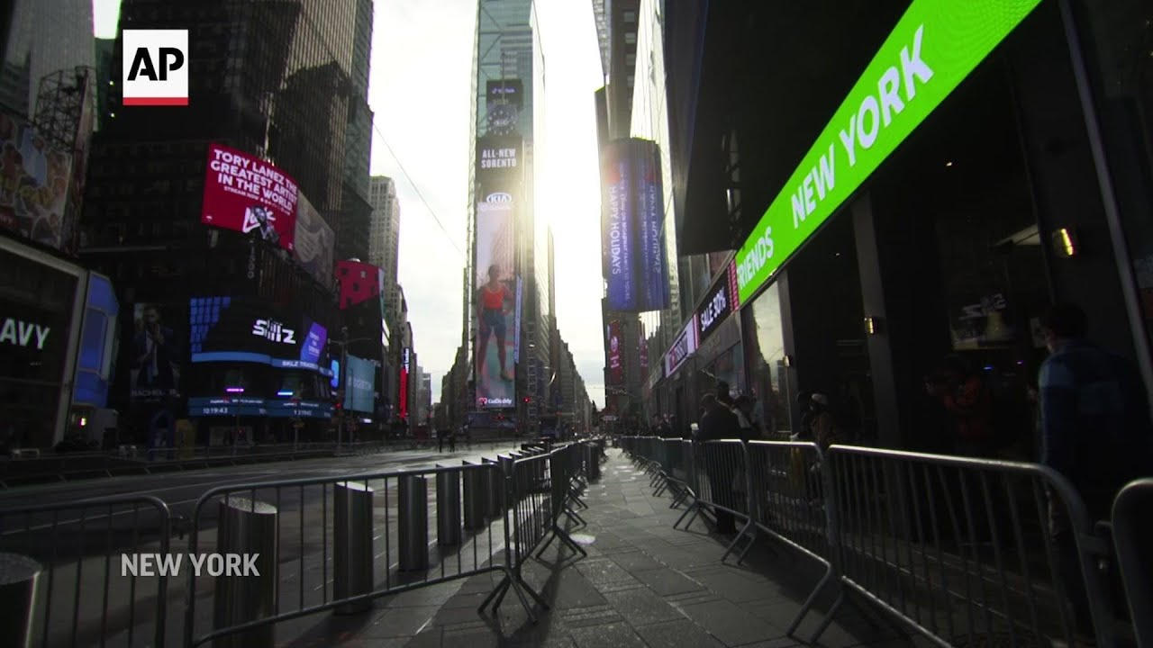 New York's Times Square Empty on New Year's Eve