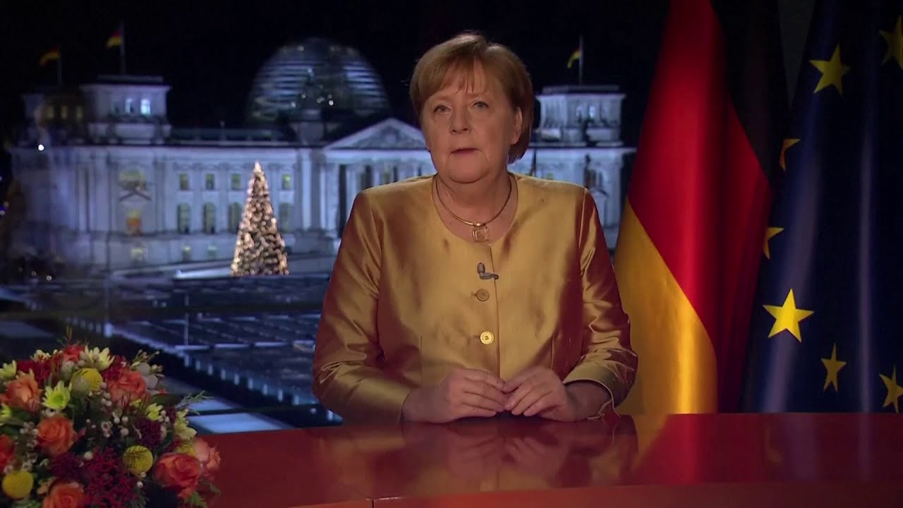 German leader Merkel addresses the nation