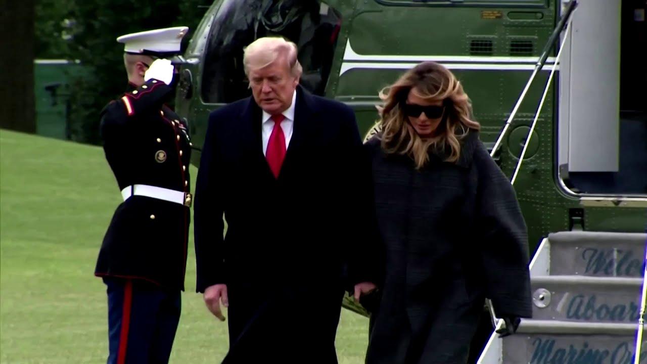 Trump returns to DC amid showdown with Congress