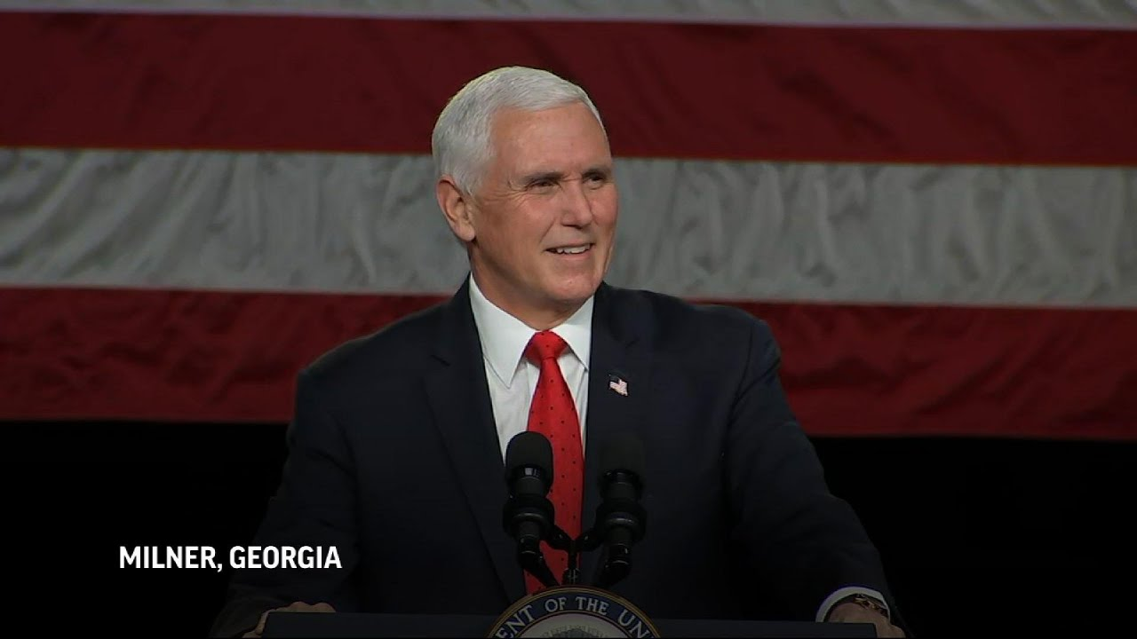 Pence 'stands with' Trump ahead of Ga. election
