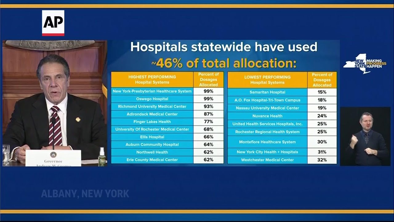 NY to fine hospitals that fail to use up vaccines