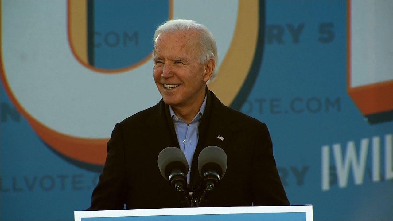 Biden warns of high stakes in Georgia Senate races