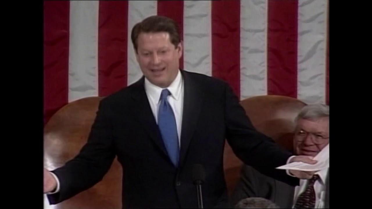 Al Gore presides over Electoral College vote in 2001