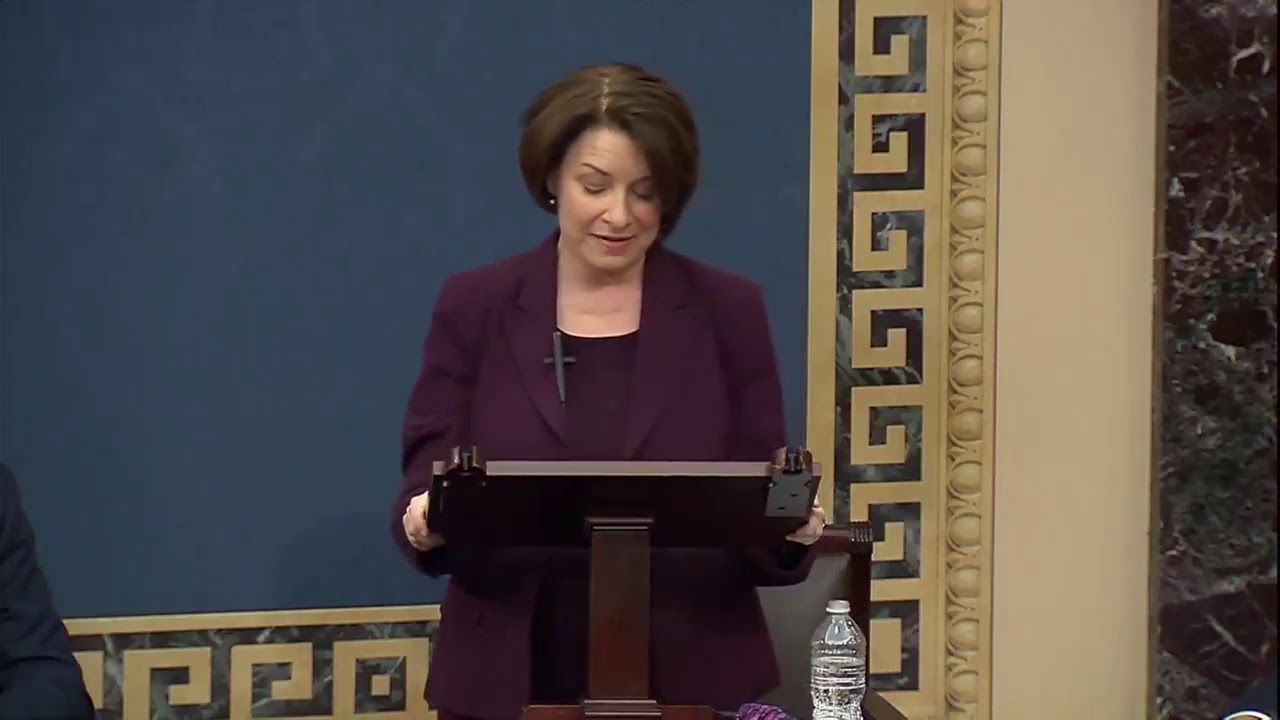 Amy Klobuchar urges GOP to accept election results