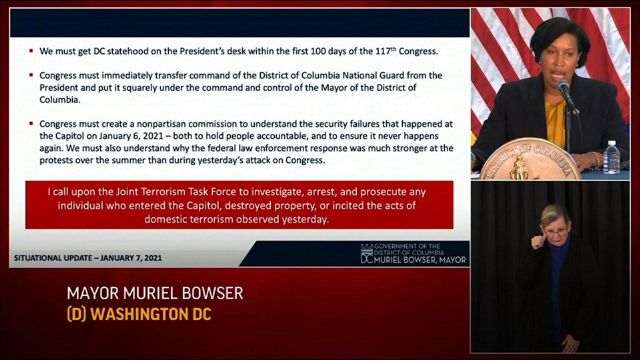 DC Mayor demands change, investigation post riot