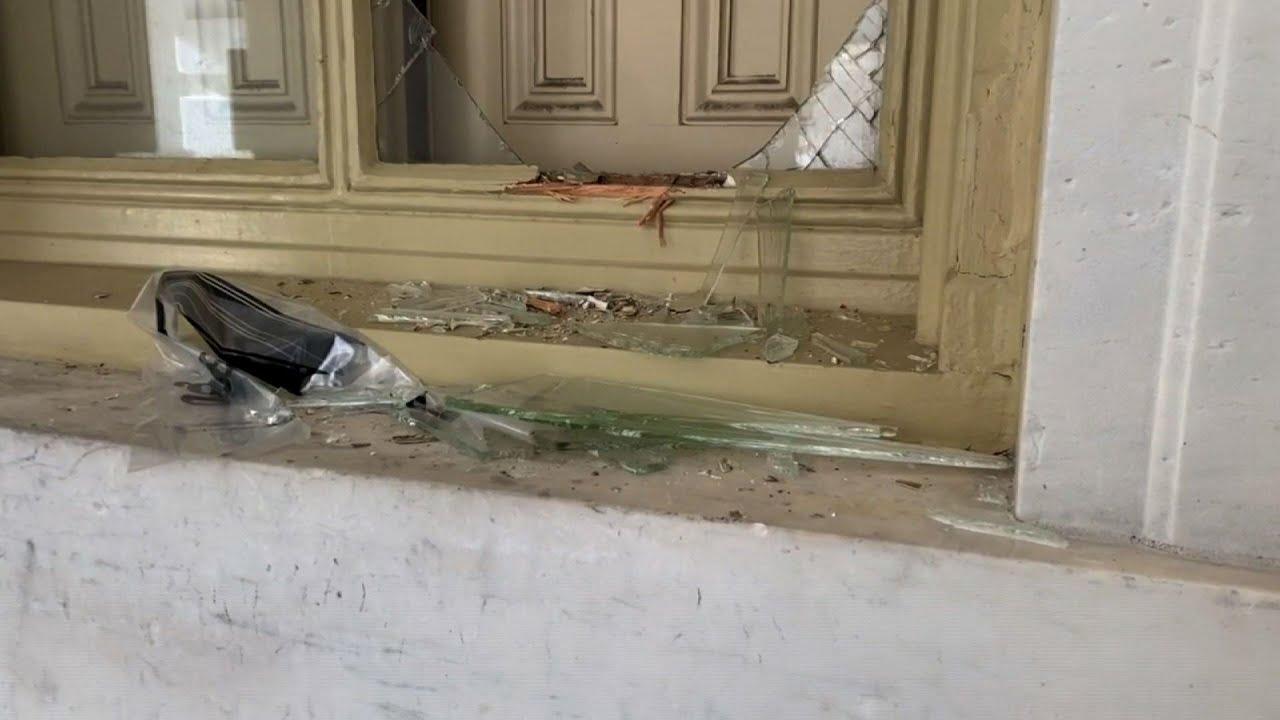Debris litters U.S. Capitol after violent breach