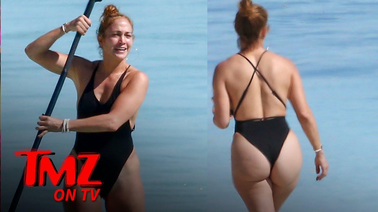 JLo Flaunts Her Figure While Paddle Boarding   TMZ TV