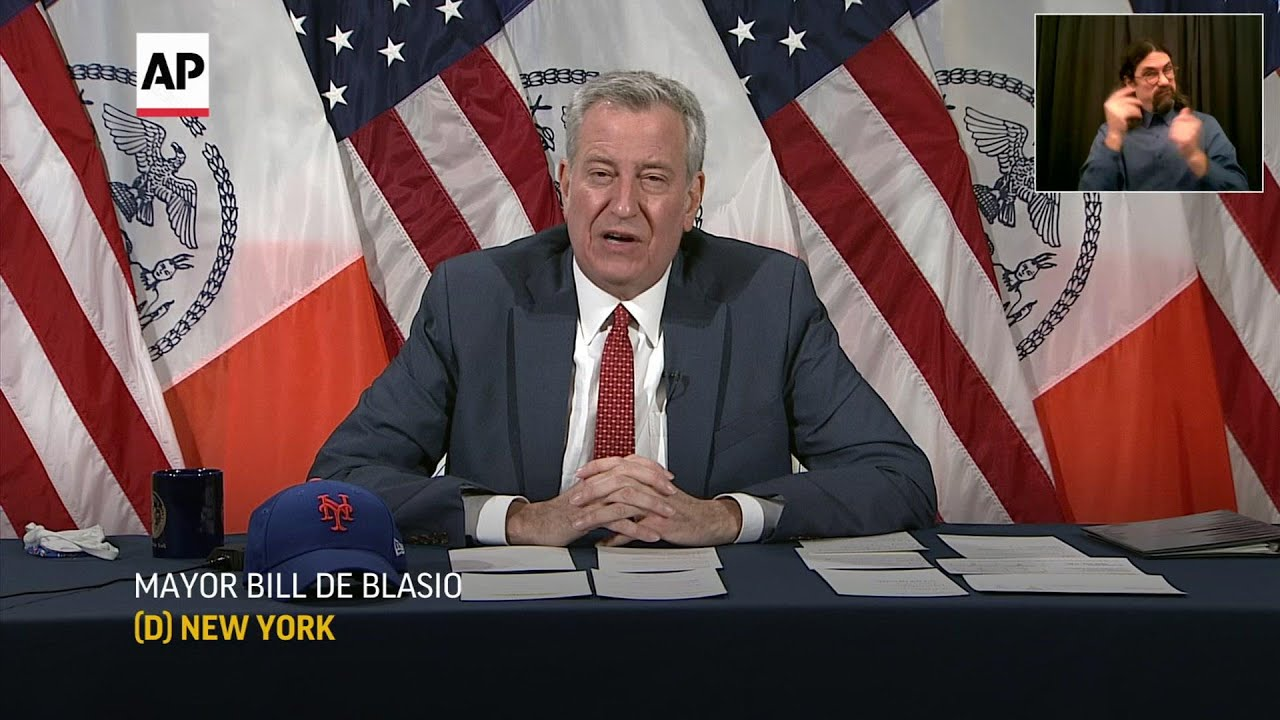 NYC mayor: City looks to end contracts with Trump