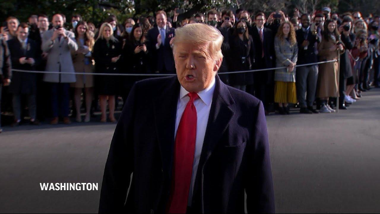 Trump: Wants 'no violence' as impeachment nears