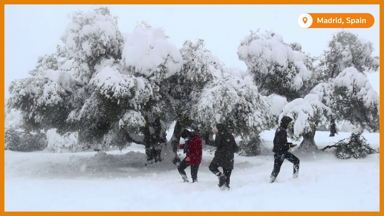 Slideshow: Madrid snow