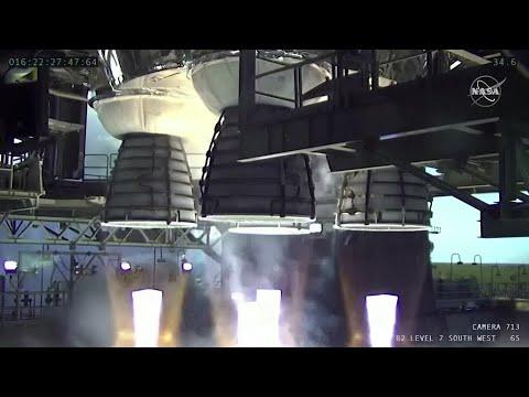 NASA's Boeing moon rocket cuts short in test