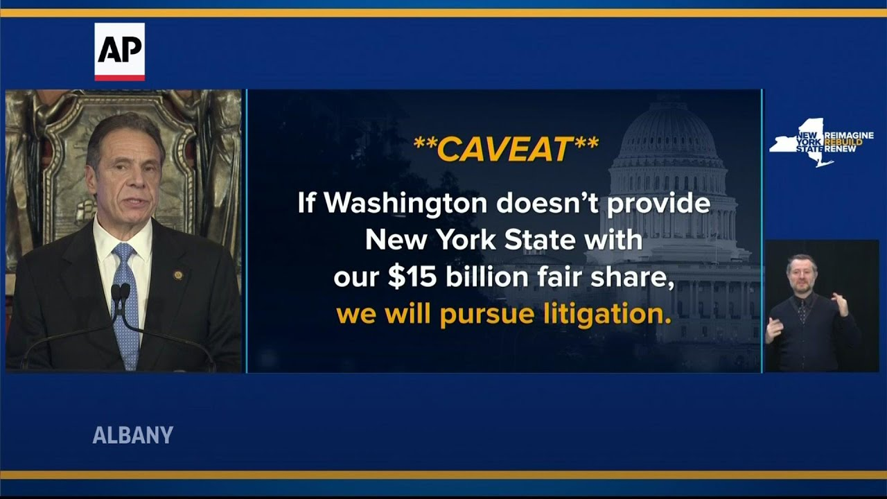Cuomo: NY will sue Feds if virus aid doesn't come