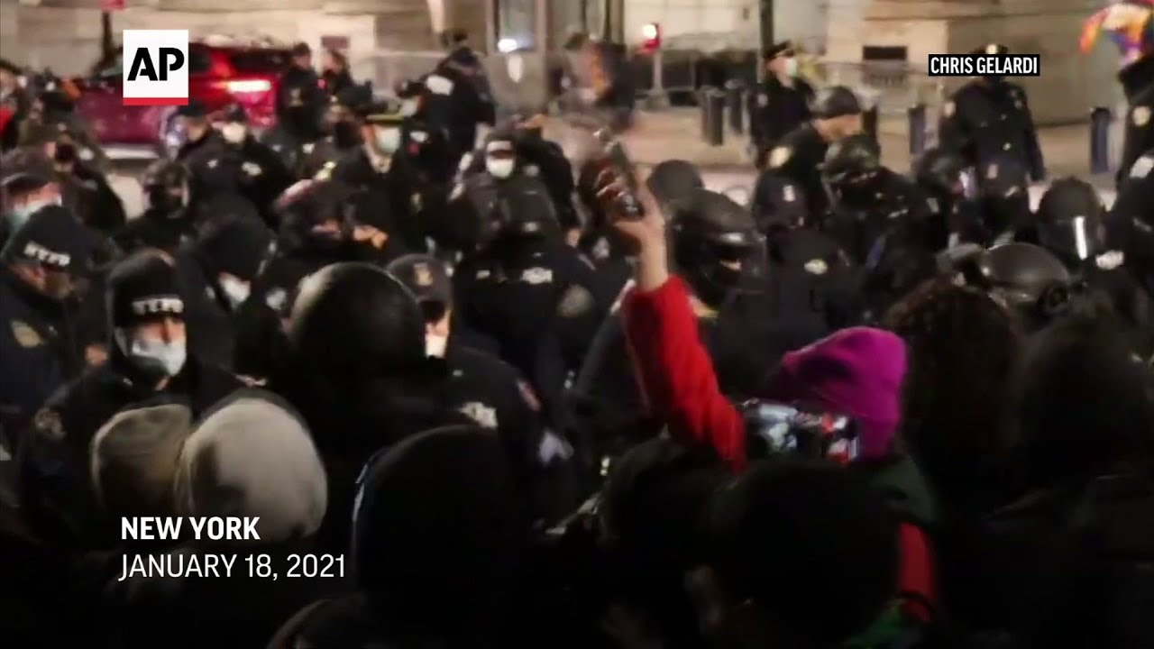 NYPD: Dozens arrested, 11 officers hurt at protest