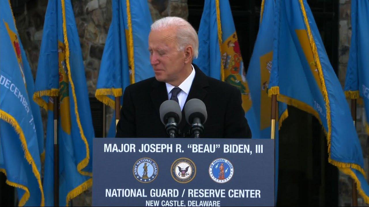 Full of emotion, Biden leaves Del. for inauguration