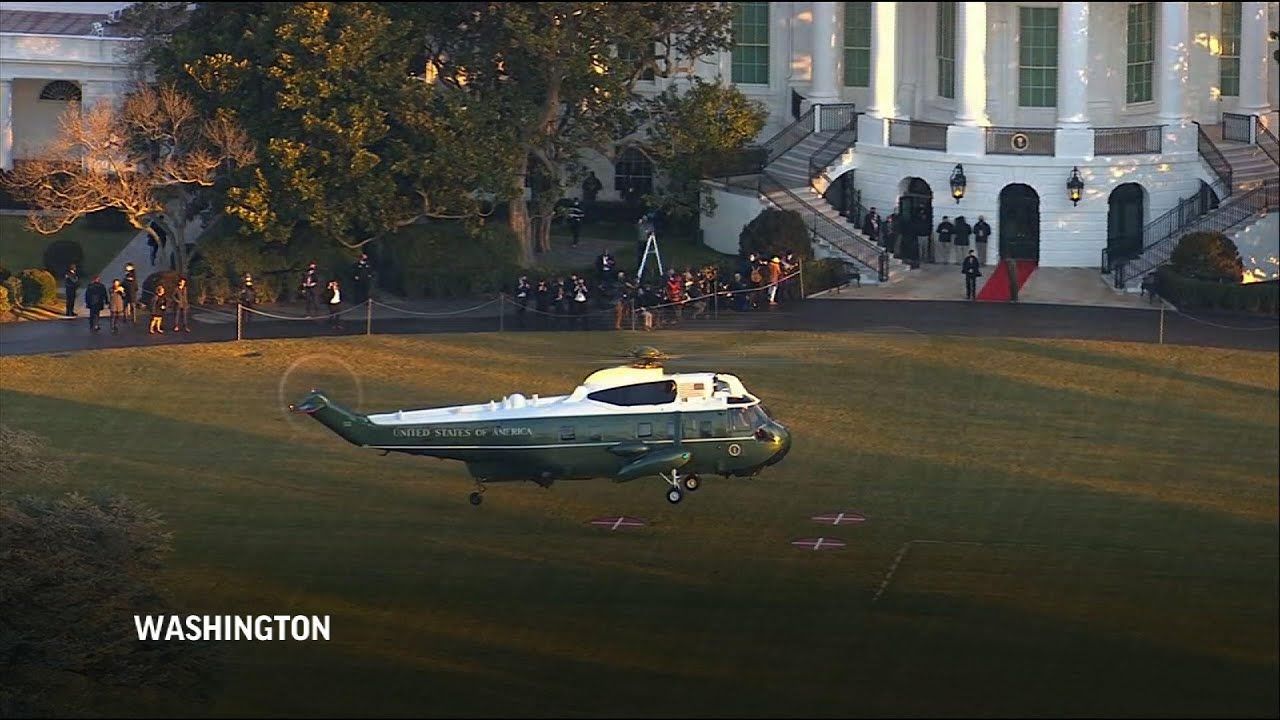 Trump leaves WH for last time as president