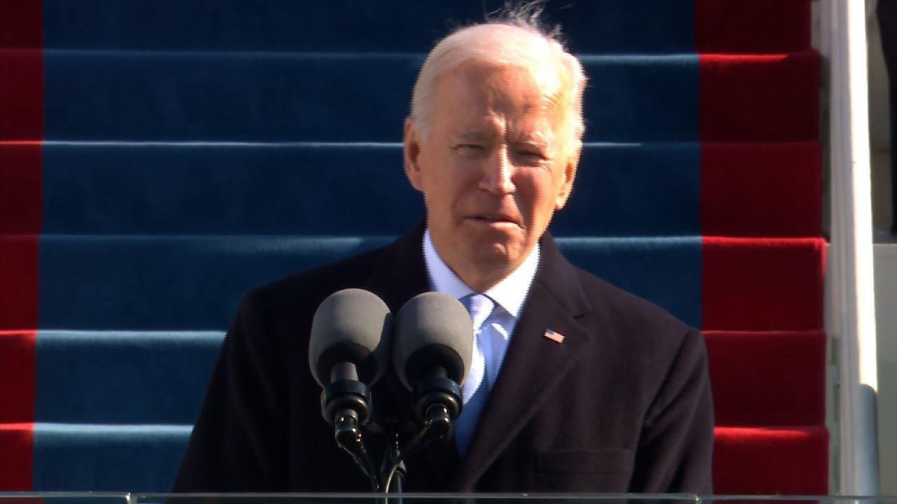 Biden inaugural: 'Without unity there is no peace'