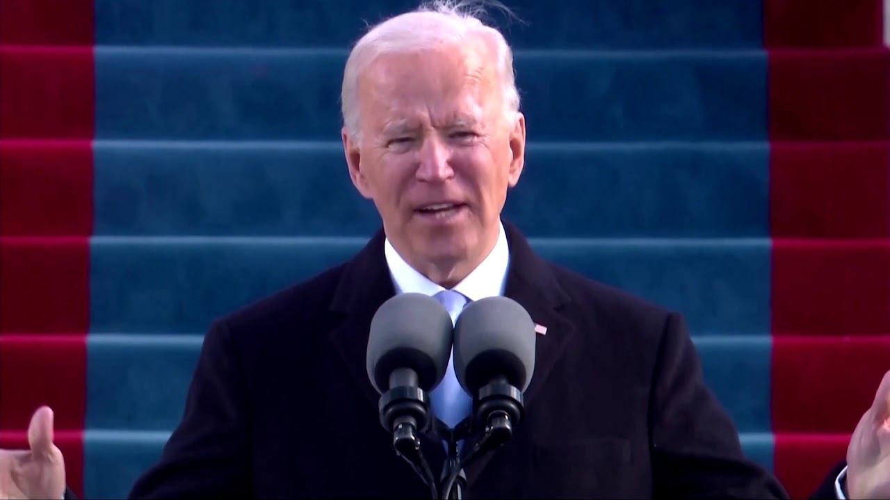 Biden inauguration speech: 'end this 'uncivil war'
