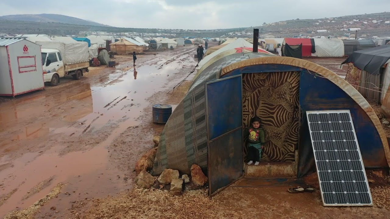 Floods spreads misery in displaced camps in Syria