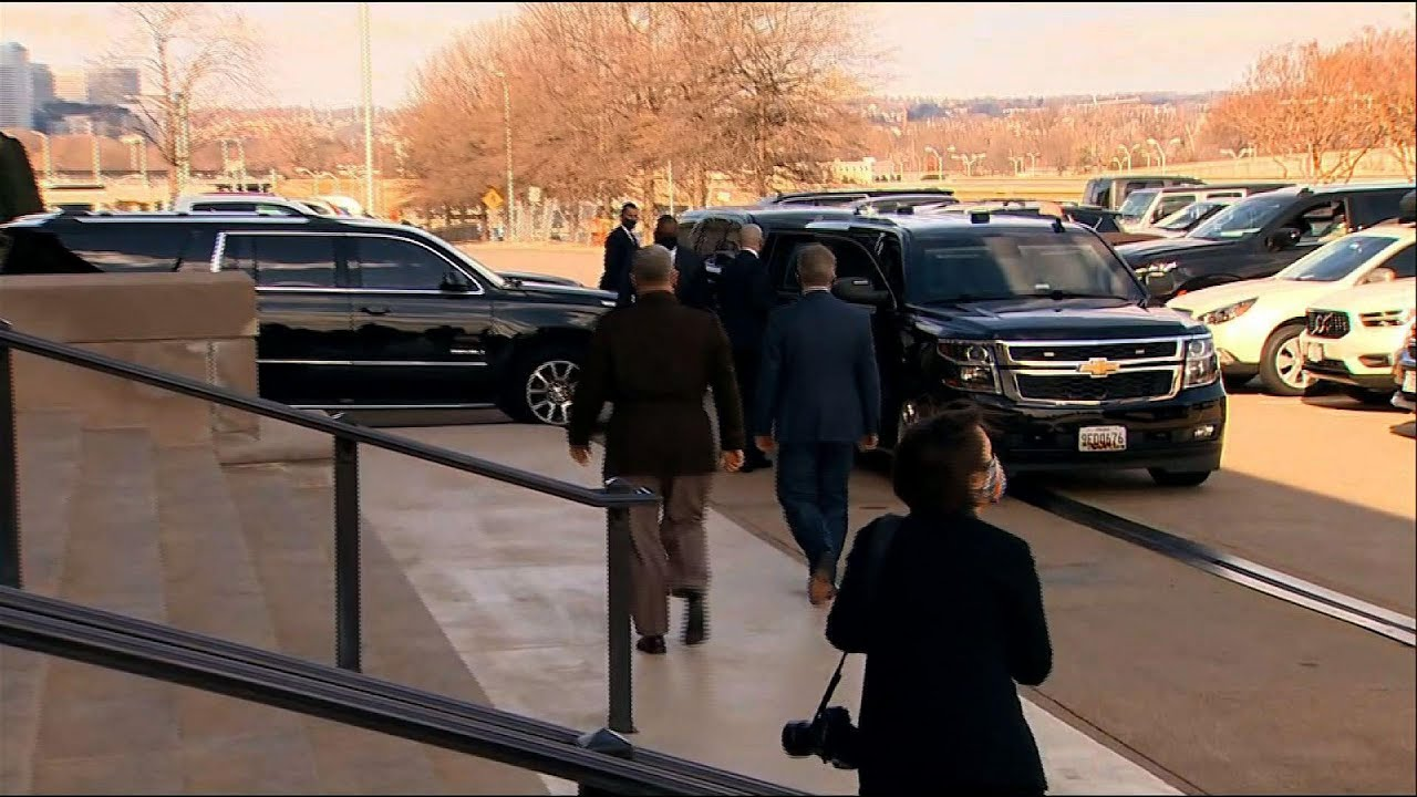 New Defense Secretary Austin arrives at Pentagon