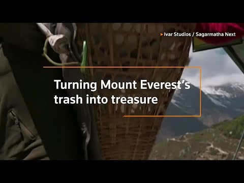 Turning Mount Everest's trash into art