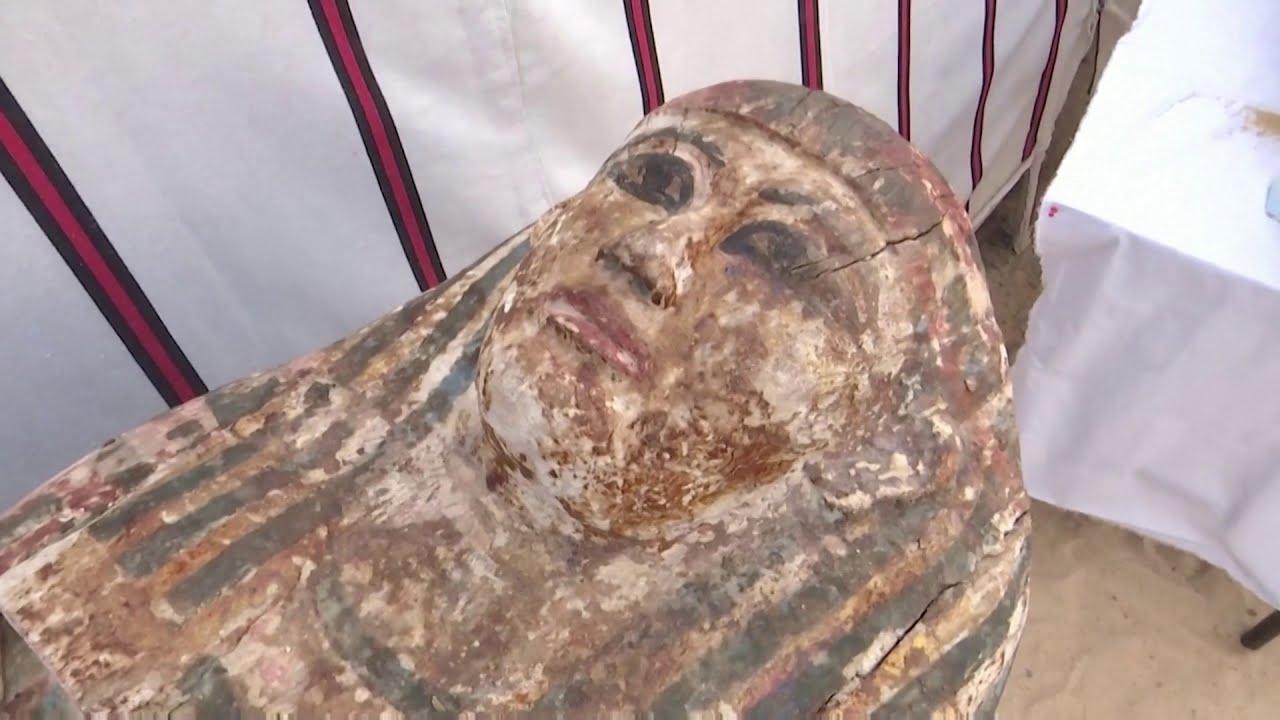Egypt unveils 3000-year-old coffins