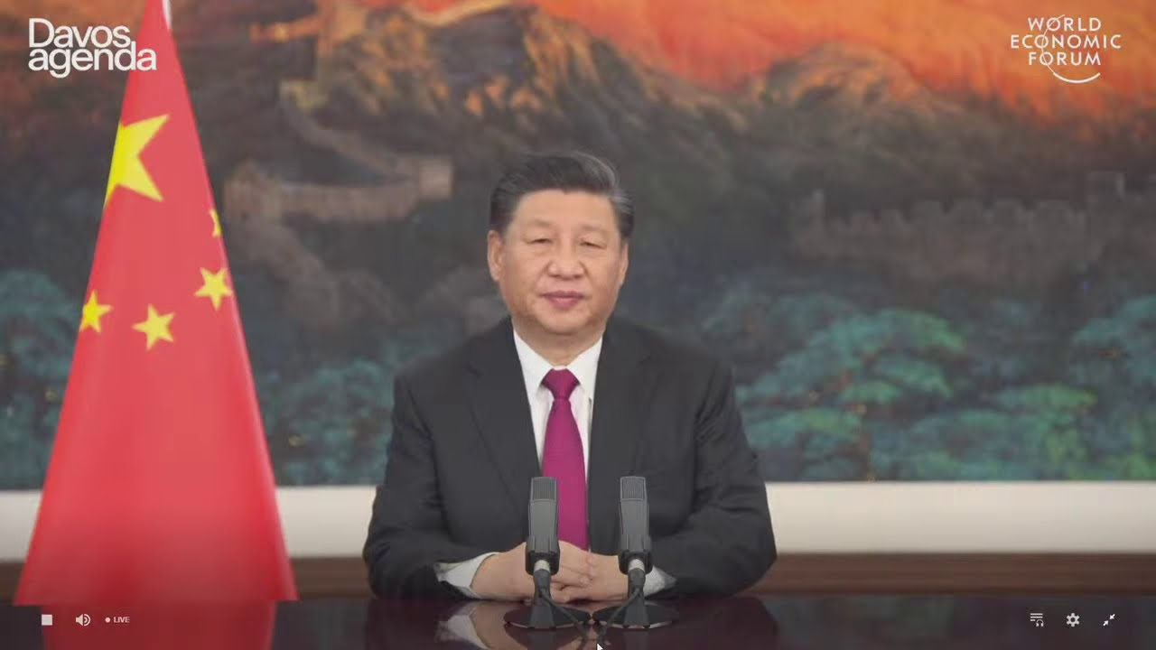 LIVE: China's President Xi Jinping addresses a virtual Davos WEF