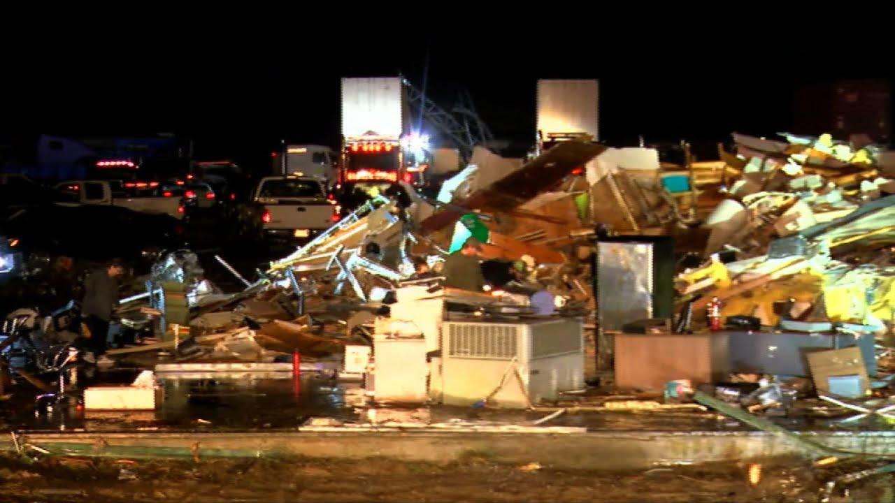 Video shows severe damage after Alabama tornado