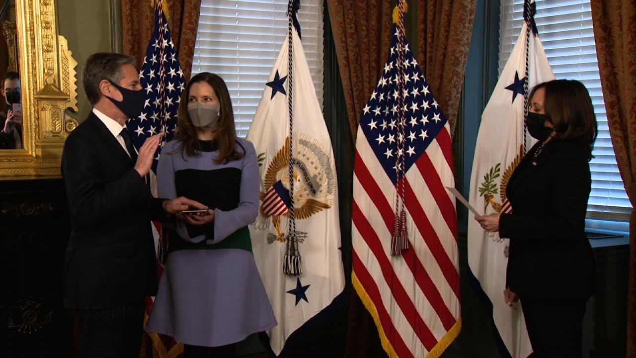 Kamala Harris administers oath to top U.S. diplomat