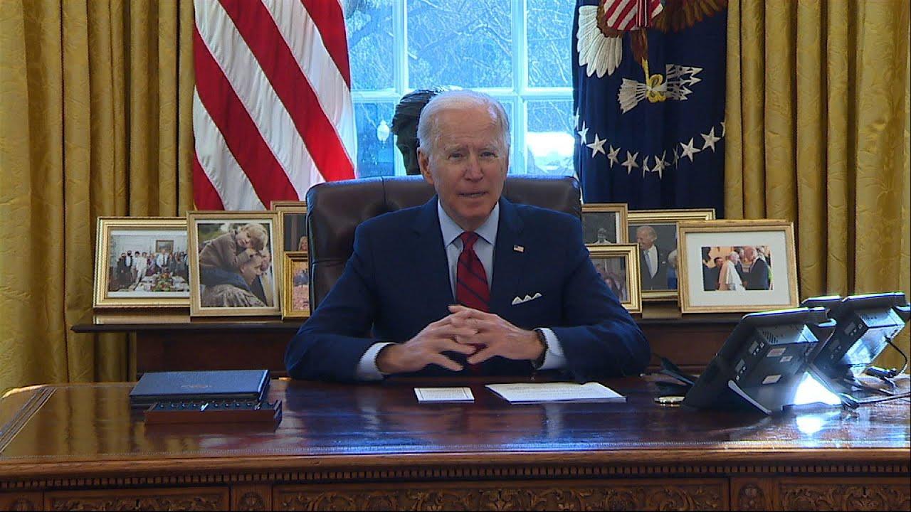 Biden signs orders undoing 'damage Trump has done'