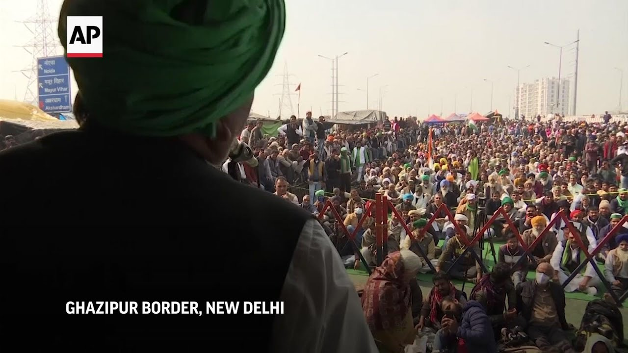 Protesting Indian farmers begin hunger strike