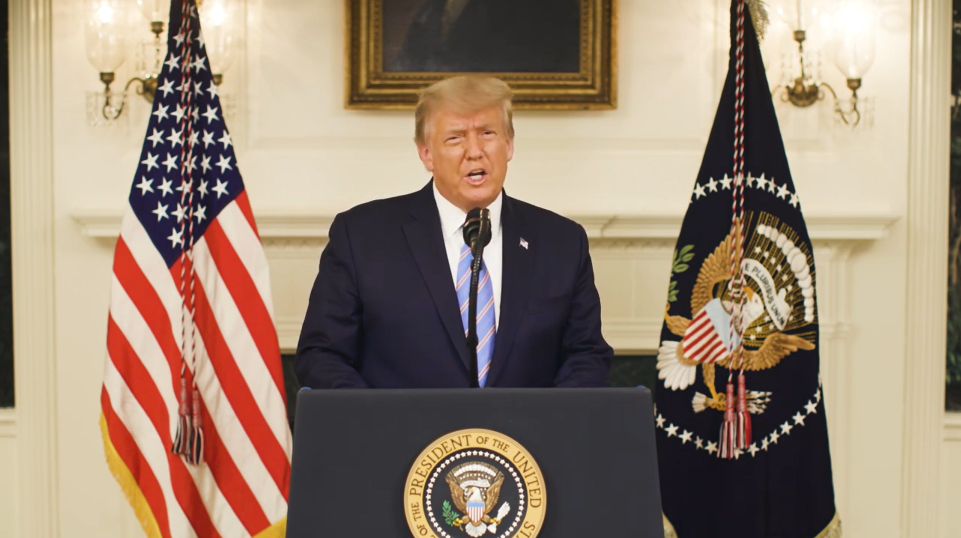 Concession by President Donald Trump