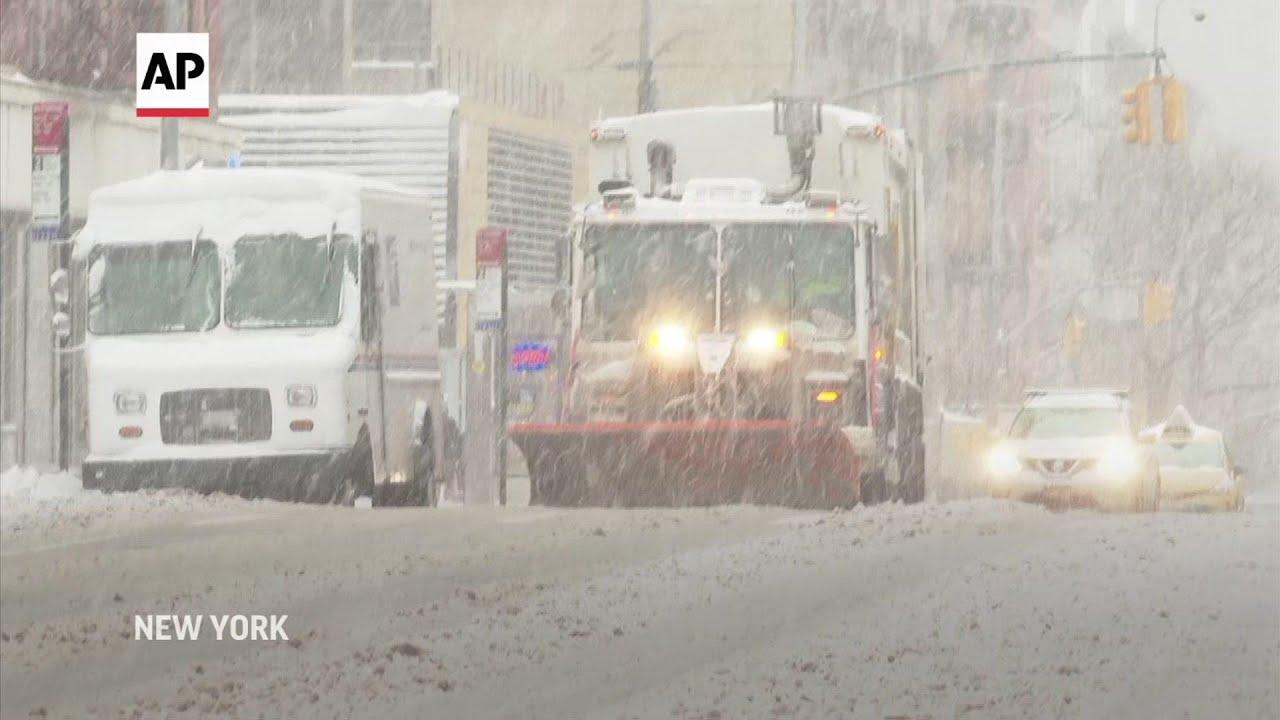 Heavy snowfall in NYC
