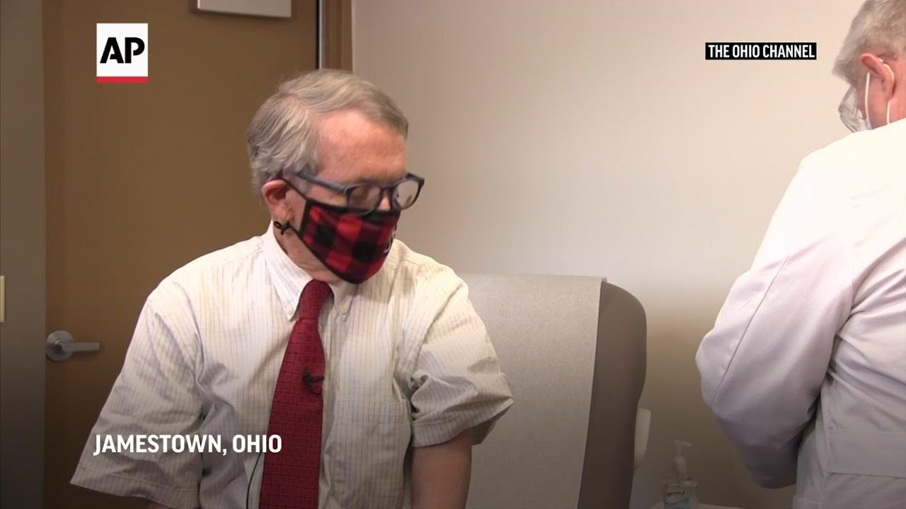 Ohio governor gets his first shot of COVID vaccine