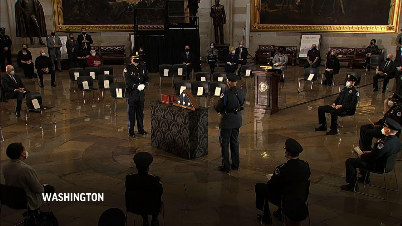 Capitol Hill Ceremony held for Officer Sicknick