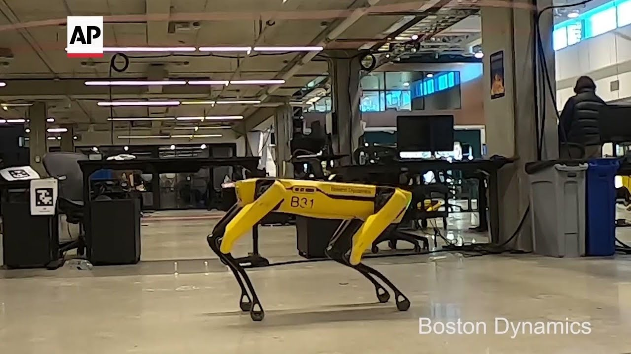 Dog-like robot gets arm, plays jump rope