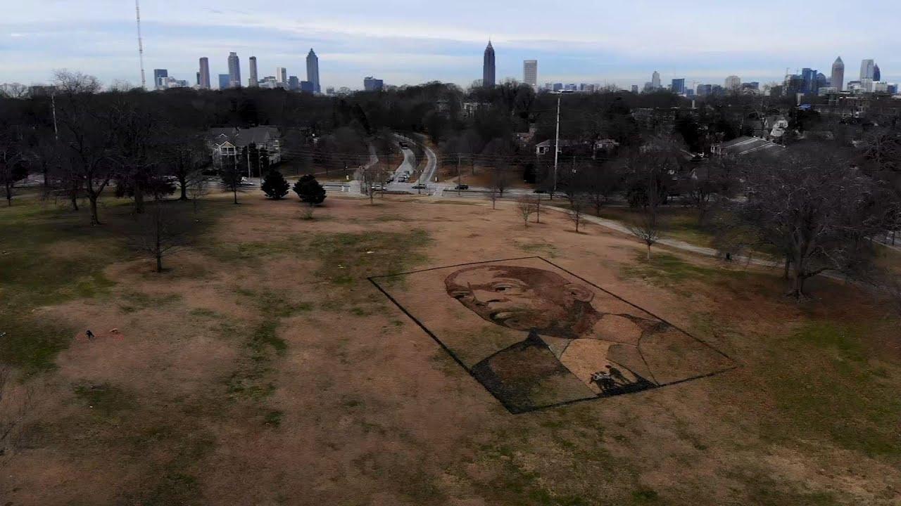 John Lewis remembered with Atlanta park portrait