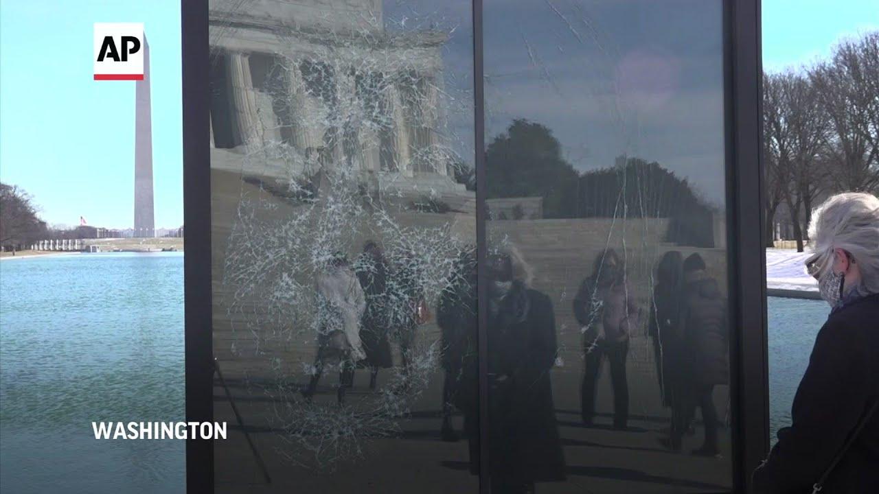 VP's historic election celebrated in glass portrait
