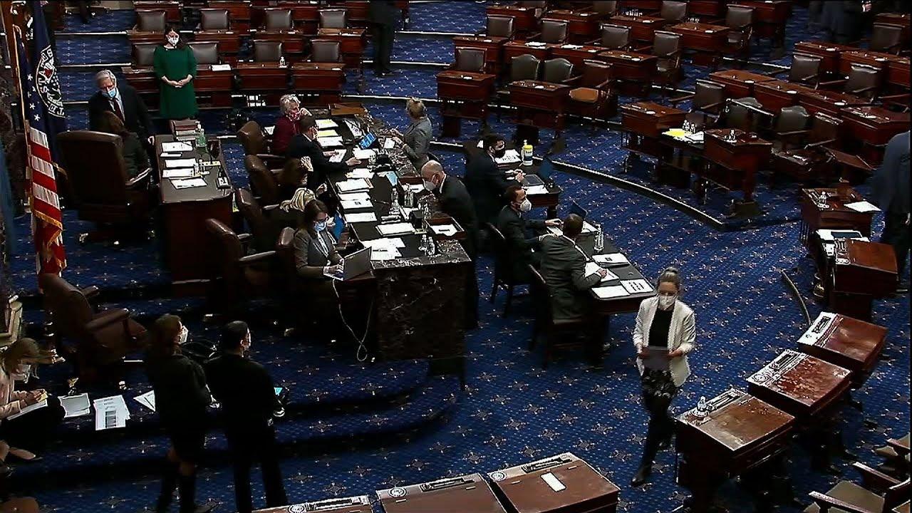 Senate approves budget, Harris casts tie-breaker